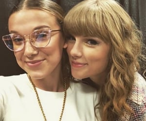 Taylor Swift, millie bobby brown, and stranger things image
