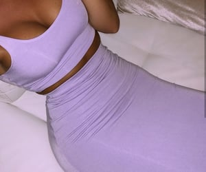 fashion, lavender, and outfit image