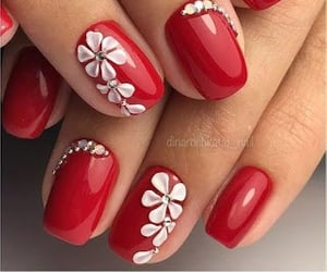 belleza, nail, and floral image