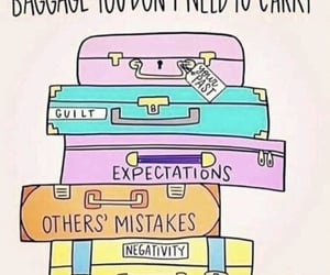 baggage, girl, and quotes image