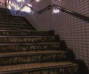 aesthetic, anime, and stairs image