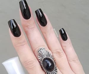 hand, nails, and ring image