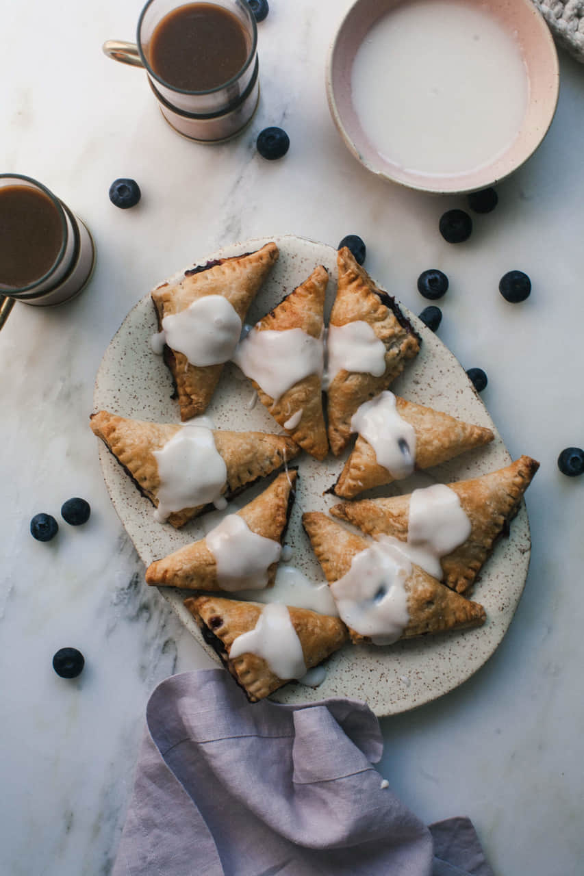 article, blueberry, and pastry image