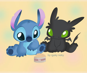 stitch, toothless, and chimuelo image