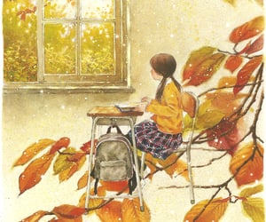 art, autumn, and drawings image