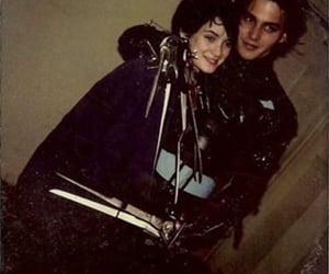 johnny depp, winona ryder, and edward scissorhands image