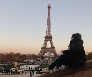 automne, beautiful, and eiffel image