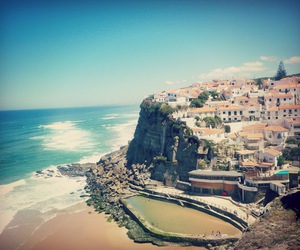 beach, photography, and portugal image