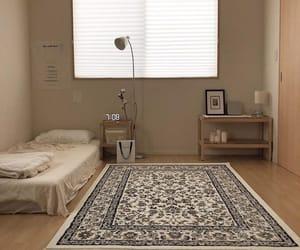 bedroom, beige, and interior image