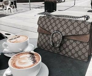 bag, coffee, and gucci image