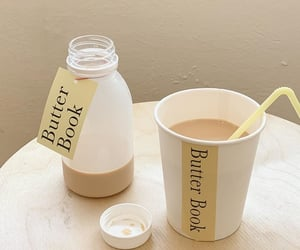 bottle, milk, and foodies image