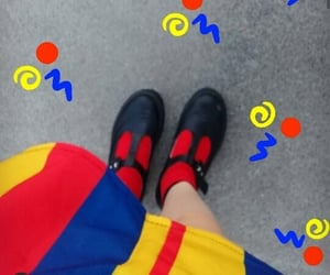 aesthetic, clown, and primary colors image
