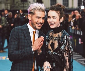 celebrity, zac efron, and lily collins image