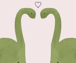 dinosaurios and love image