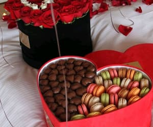 chocolate, flowers, and surprise image