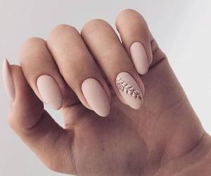 nails, Nude, and nail art image
