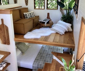 bed, house, and calm image