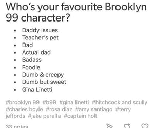 brooklyn nine-nine, rosa diaz, and hitchcock and scully image