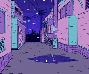 purple, pink, and night image