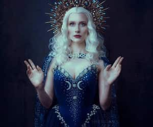 blue, fantasy, and witch image