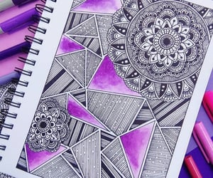 art, drawing, and mandalas image