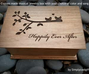 etsy, customjewelrybox, and happily ever after image