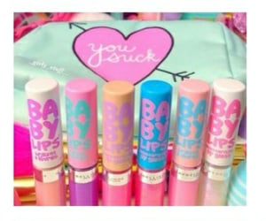 makeup, babylips, and Maybelline image