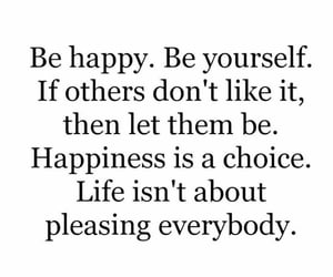 be yourself, self love, and happiness image