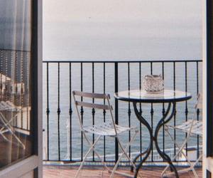 balcony, sea, and summer image