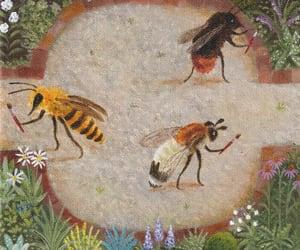 bear, bee, and botany image