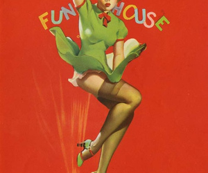 illustration, pin-up, and vintage image