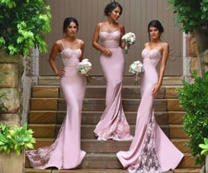 wedding guest dress, cheap bridesmaid dress, and long bridesmaid dress image