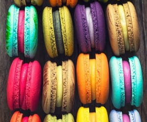 food, colors, and ‎macarons image