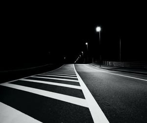 black and white and night image
