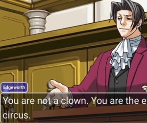 funny, ace attorney, and reaction pic image