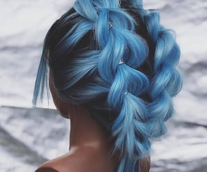 beauty, hair, and blue image