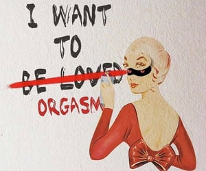 orgasm, woman, and love image