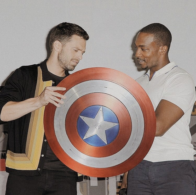 sebastian stan, anthony mackie, and winter soldier image
