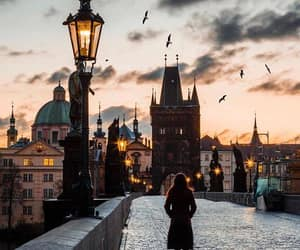 city, travel, and prague image