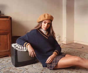 beret, girl, and inspo image