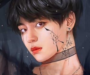 art, kim taehyung, and idol image
