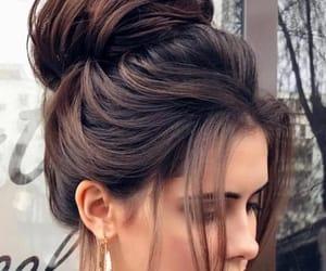 bun, high bun, and hair image