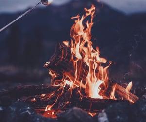 90s, bonfire, and cozy image