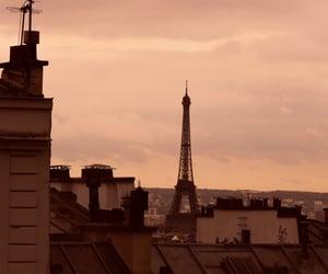 aesthetic, sunset, and parisian street image