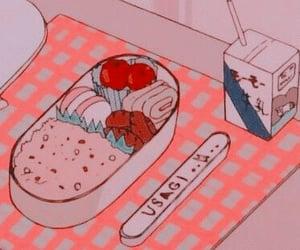 anime, pink, and food image