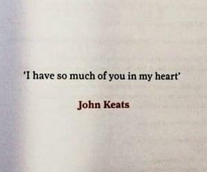 heart, quote, and john keats image