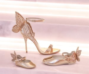 butterfly, heels, and shoes image