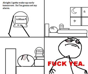 alarm, fu, and morning image