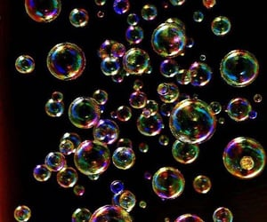 black and bubbles image
