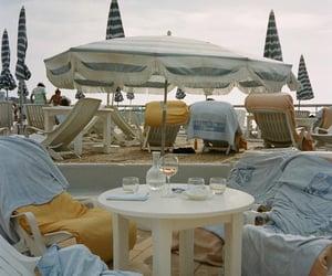 beach and umbrellas image